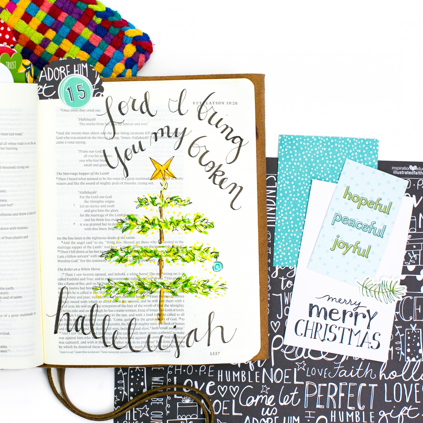 Watercolor Tutorial Bible Journaling by Amy Bruce - Leaning In - Offering a Broken Hallelujah