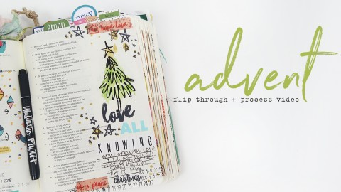 Bible Journaling Advent Check In + Process Video!!