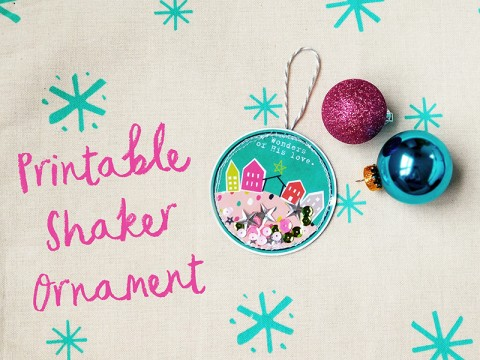 Printable Shaker Ornament Tutorial