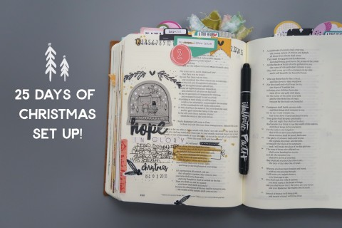 Setting up for December Bible Journaling !!! * video *