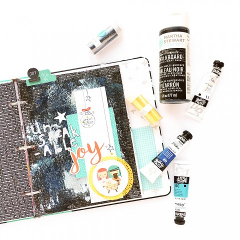 Mixed Media Tutorial: Glittery Painted Background | Unspeakable Joy