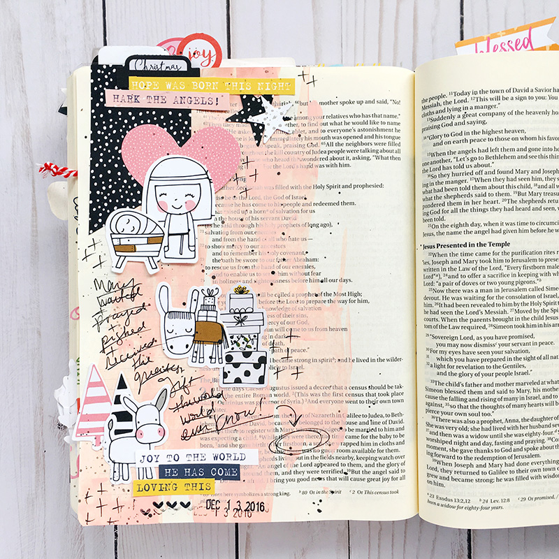 Worth the Wait | Mary and the Manger | mixed media art journaling Bible entry by Bailey Robert