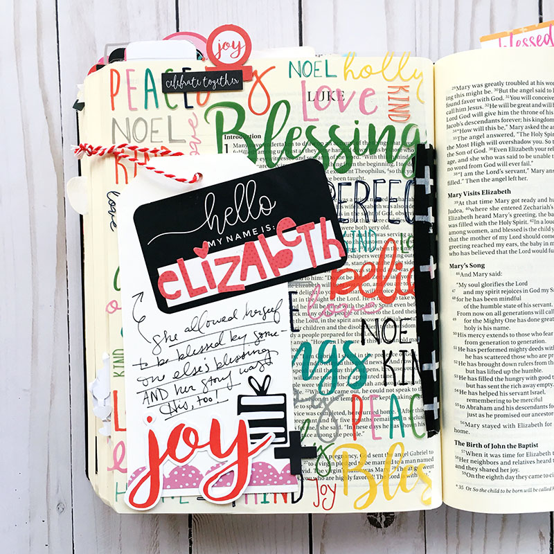 Bible journaling entry by Bailey Robert | Worth the Wait - Elizabeth | Illustrated Faith by Bella Blvd CHRISTmas Collection