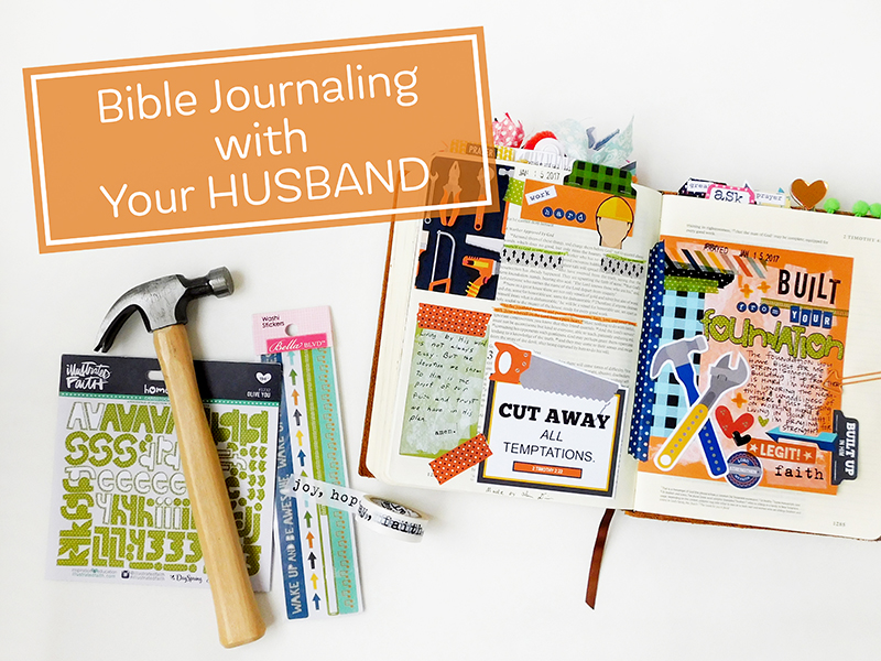 hybrid Bible journaling with your husband by Elaine Davis
