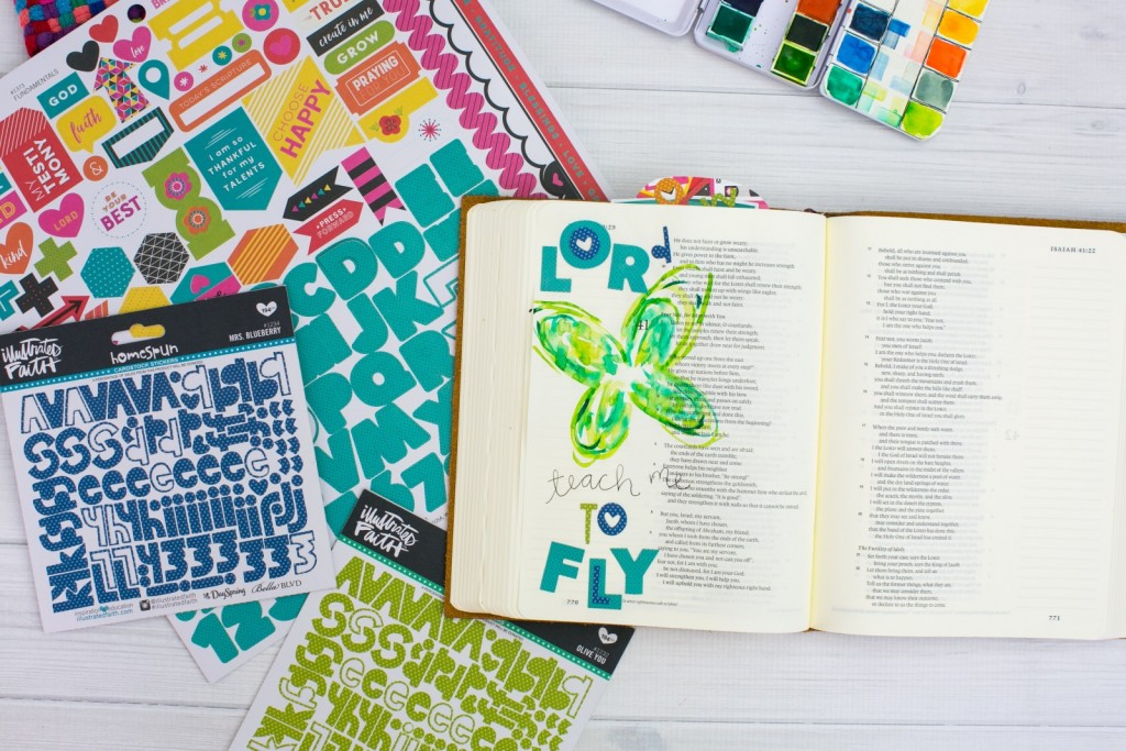 watercolor butterfly Bible journaling tutorial by Amy Bruce   Lord, Teach me to fly