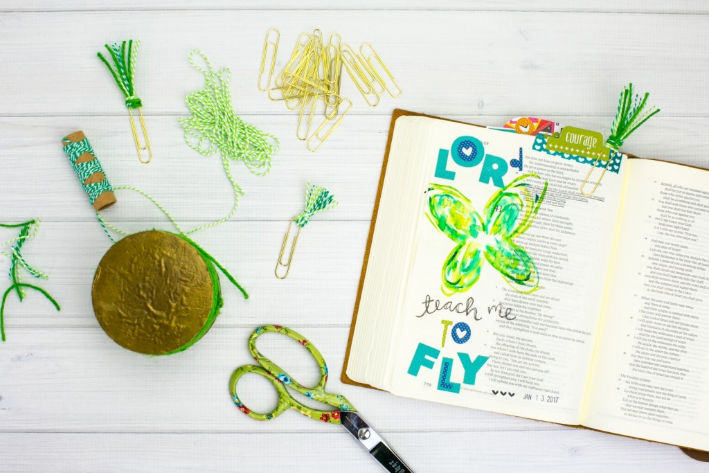 watercolor butterfly Bible journaling tutorial by Amy Bruce   Lord, Teach me to fly   paperclip tutorial