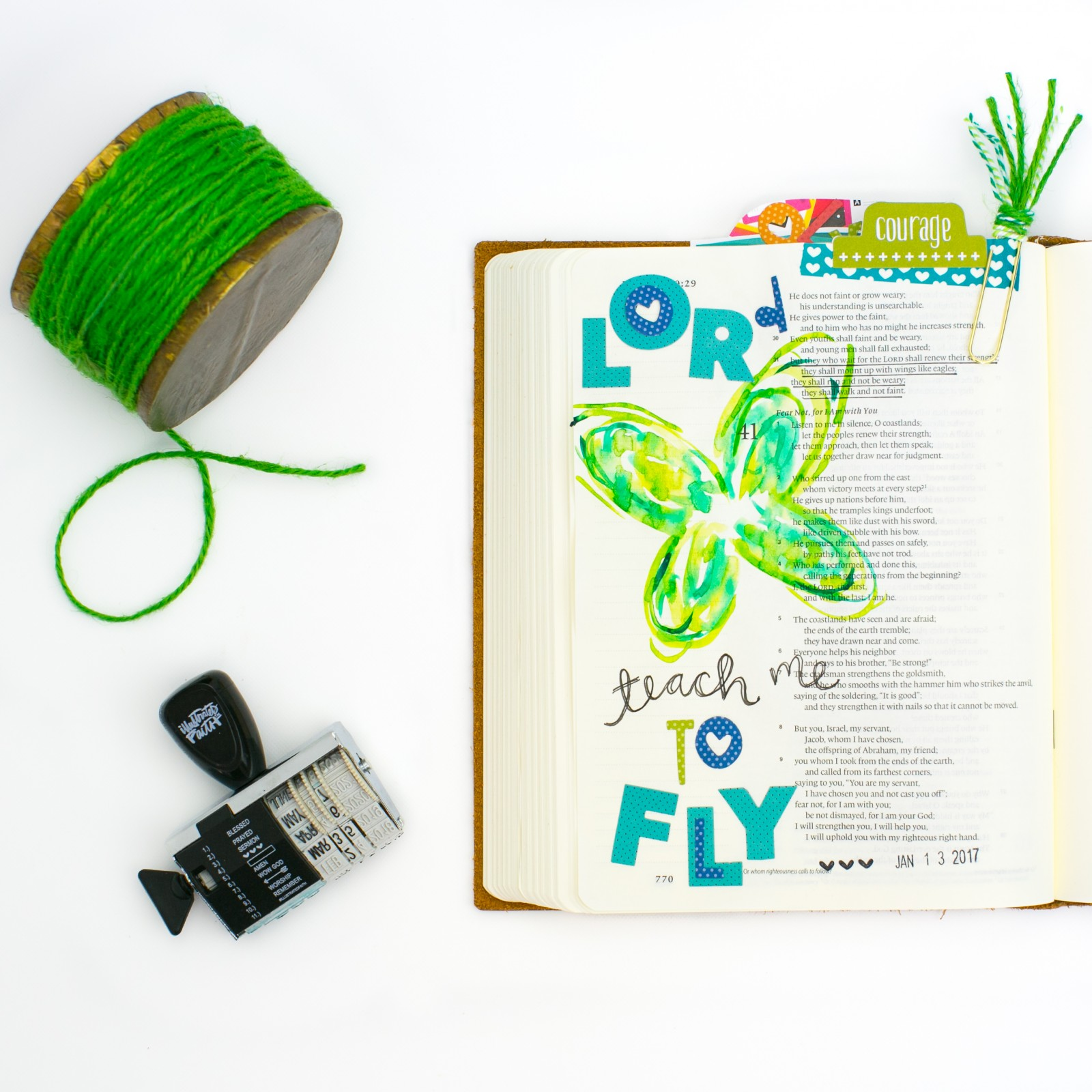 watercolor butterfly Bible journaling tutorial by Amy Bruce | Lord, Teach me to fly