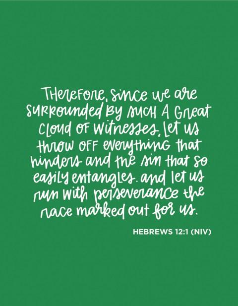 Sunday Inspiration from Hebrews 12:1