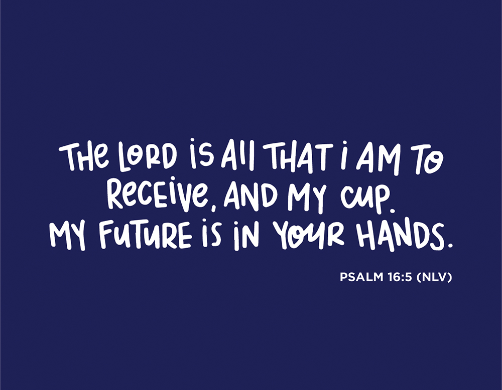 Sunday Inspiration from Psalm 16:5 and free printable download