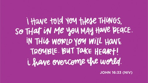 Sunday Inspiration from John 16:33