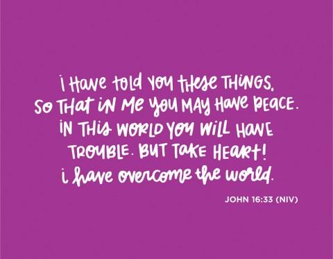 Sunday Inspiration from John 16:33