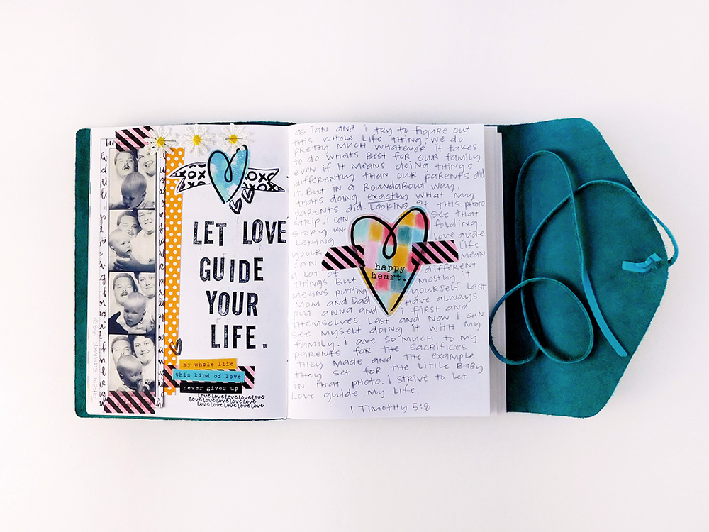simple hybrid journaling pages using Print & Pray printables by Elaine Davis | notebook journaling, faith journaling