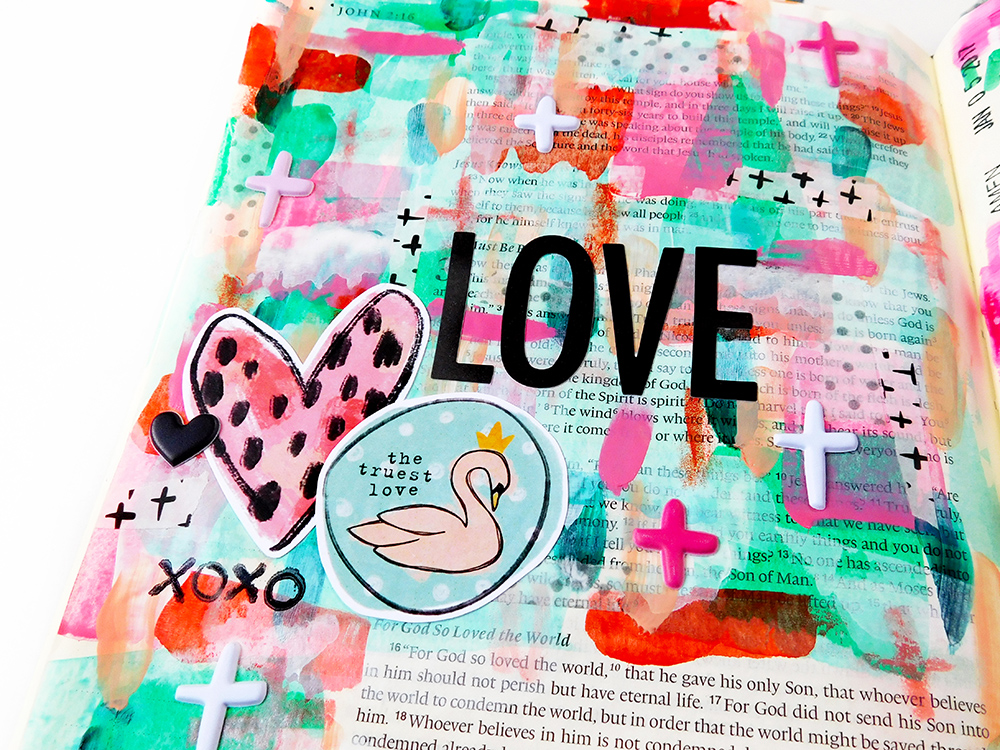 """hybrid Bible journaling """"scraplifting"""" inspiration and dos and don'ts by Elaine Davis"""