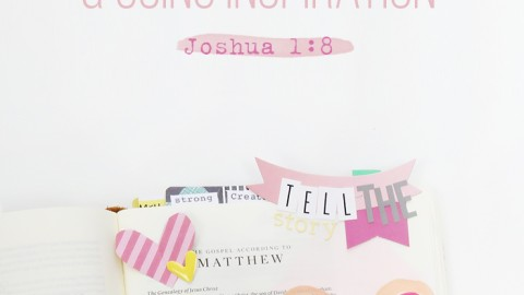 Bible Journaling Process Video – Finding Inspiration