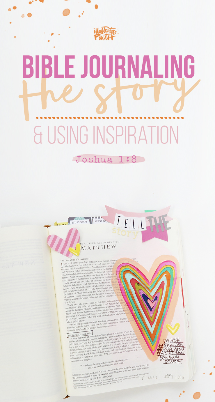 Bible Journaling Process Video by Shanna Noel - Finding Inspiration Joshua 1:8