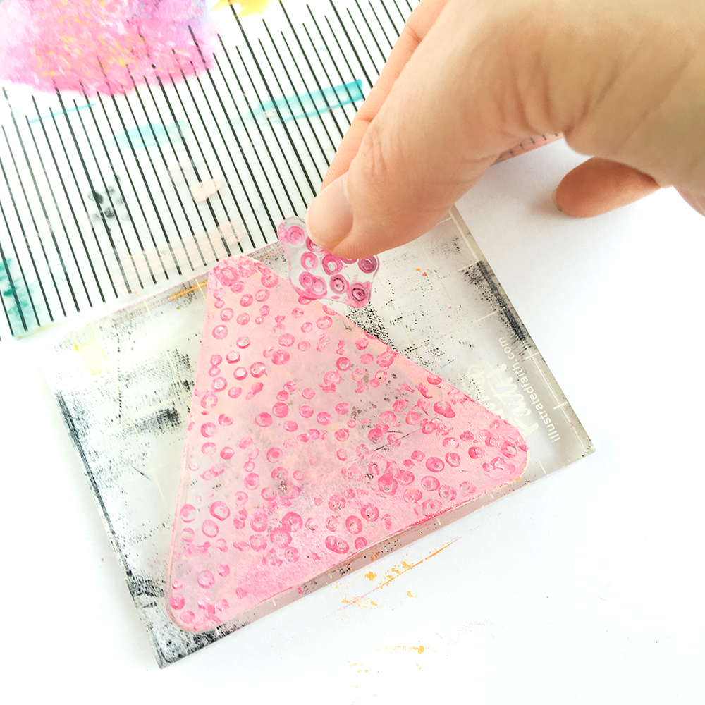 mixed media gelli plate tutorial and Bible Journaling entry by Heather Greenwood   Illustrated Faith Stubborn Love   The Great Commission and love