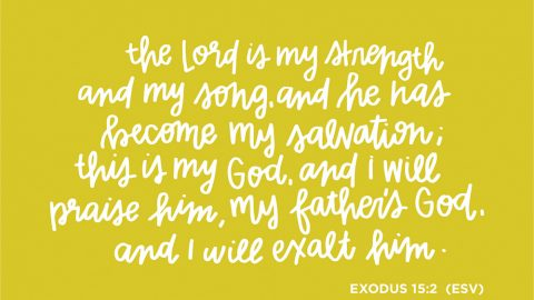 Sunday Inspiration from Exodus 15:2