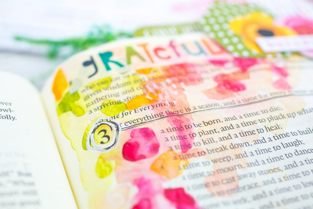 Watercolor Bible Journaling Tutorial | Leaning In - A Time and a Season for All Things | Ecclesiastes 3 | underlining passage