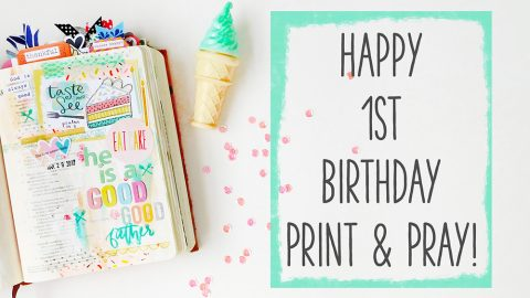 Print & Pray Turns ONE Today!