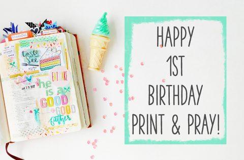 Print & Pray Turns ONE Today!