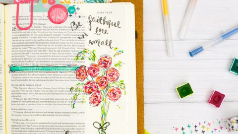 Watercolor Tutorial | Leaning In – Faithful in the Little Things