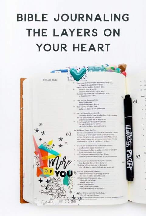 Layers on your heart | Bible Journaling