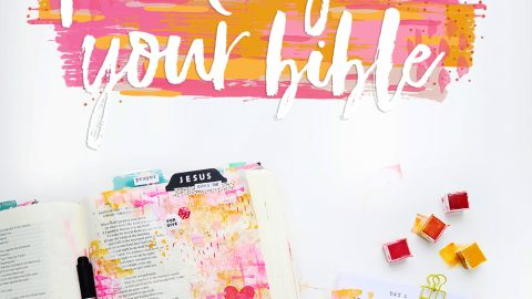 Some fun tips for painting in your bible!