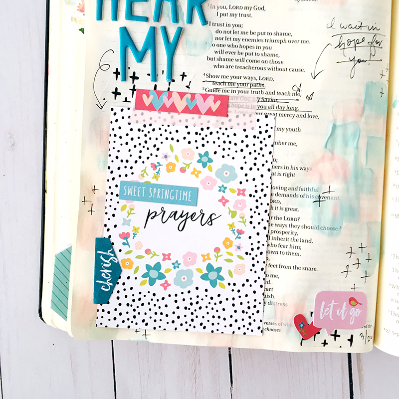 bible journaling entry by Bailey Jean Robert   Worth the Wait: Hear My Prayer
