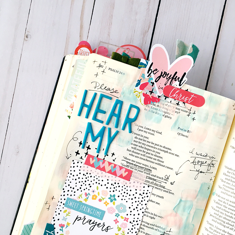 bible journaling entry by Bailey Jean Robert | Worth the Wait: Hear My Prayer