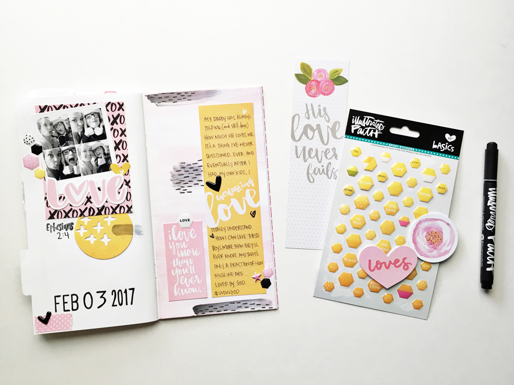 Memory Keeping: Faith Edition | Love You More | traveler's notebook entry by Andrea Gray