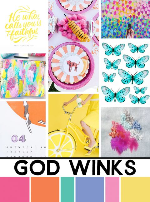 April Artist Mood Board & New Releases: God Winks