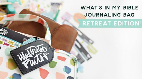 What's in my bible journaling bag | retreat edition !!!