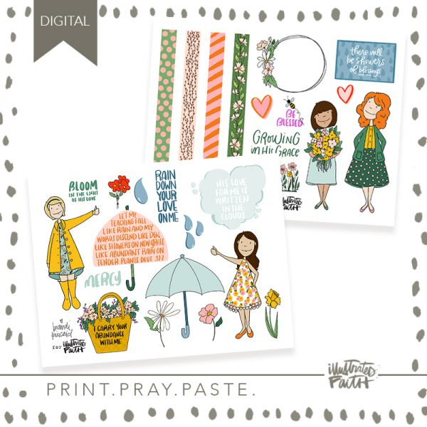Illustrated Faith Raining Blessings Printable