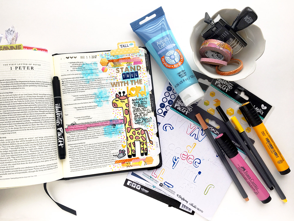 mixed media art journaling Bible entry by Abigail Clone | Teen Topic: Feeling Small