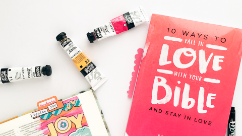 mixed media bible journaling tutorial: simple inspiration