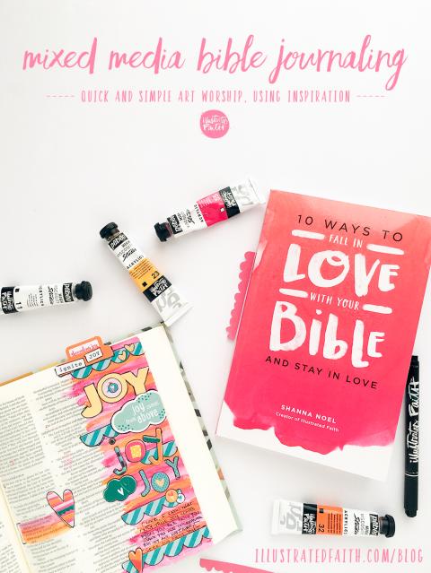 mixed media bible journaling tutorial: simple inspiration