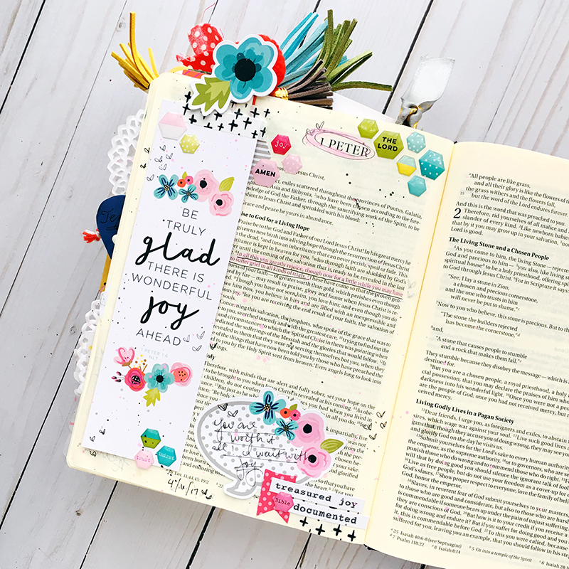 bible journaling entry by Bailey Jean Robert | Worth the Wait | Choosing Joy | 1 Peter 1:6