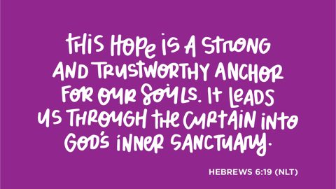 Sunday Inspiration from Hebrews 6:19