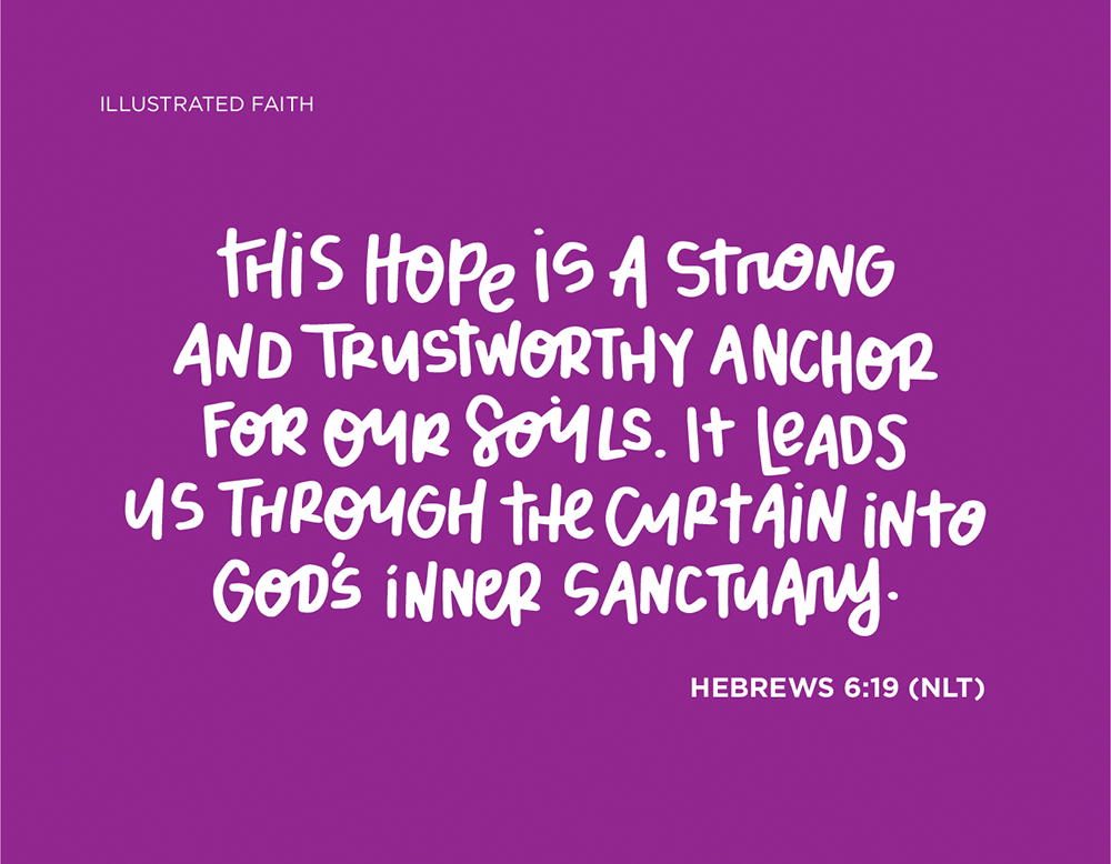 Sunday Inspiration from Hebrews 6:19 | Illustrated Faith digital printable freebie