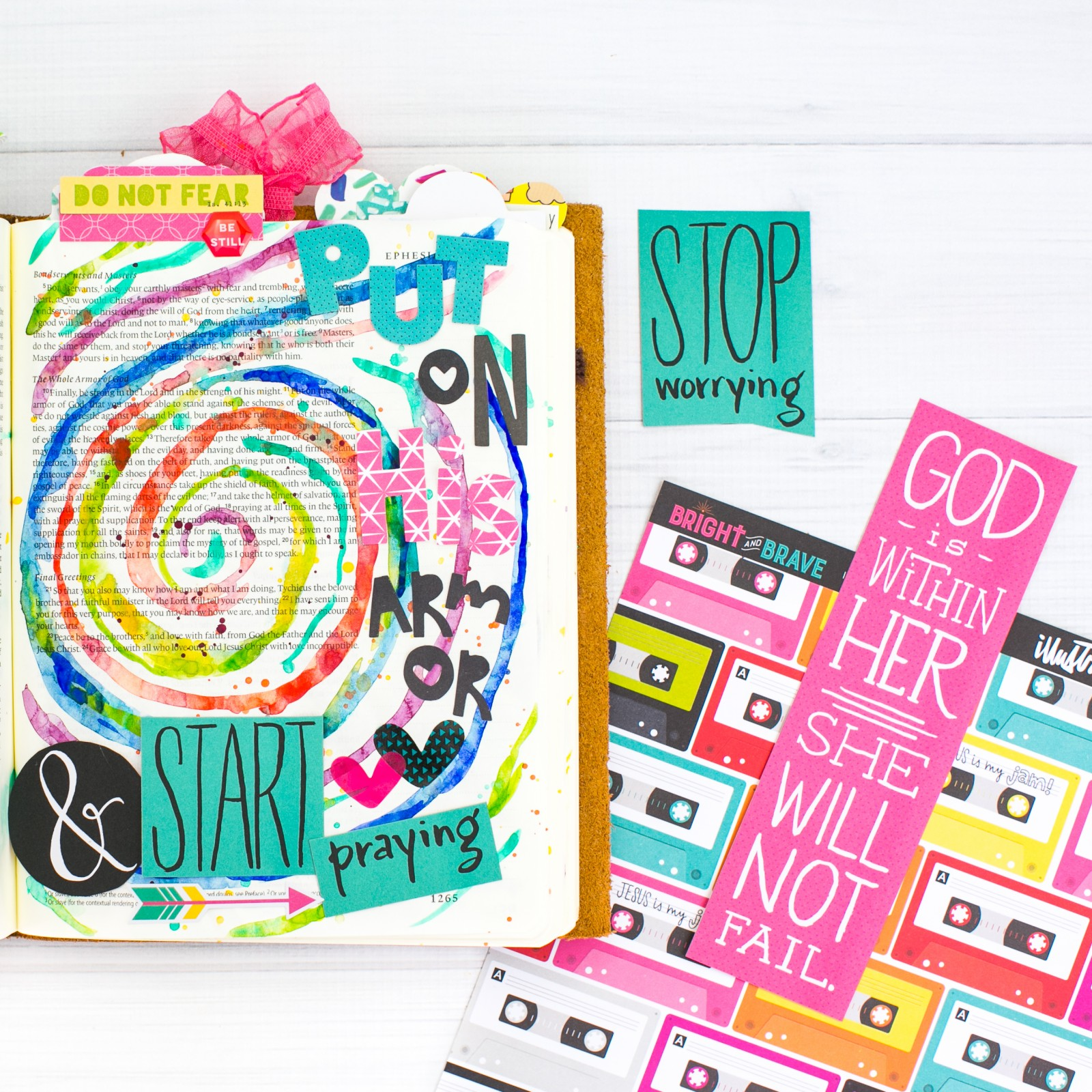 watercolor Bible journaling tutorial by Amy Bruce | Watercolor Tutorial | Leaning In - The Armor of God | Ephesians 6 | Illustrated Faith Bright & Brave