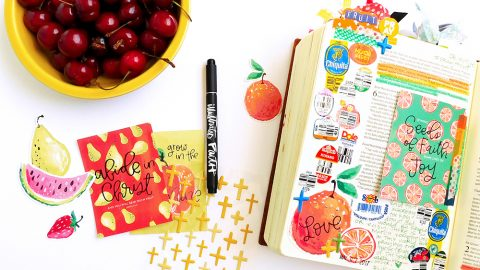 Use What You Have: Fruit Produce Stickers
