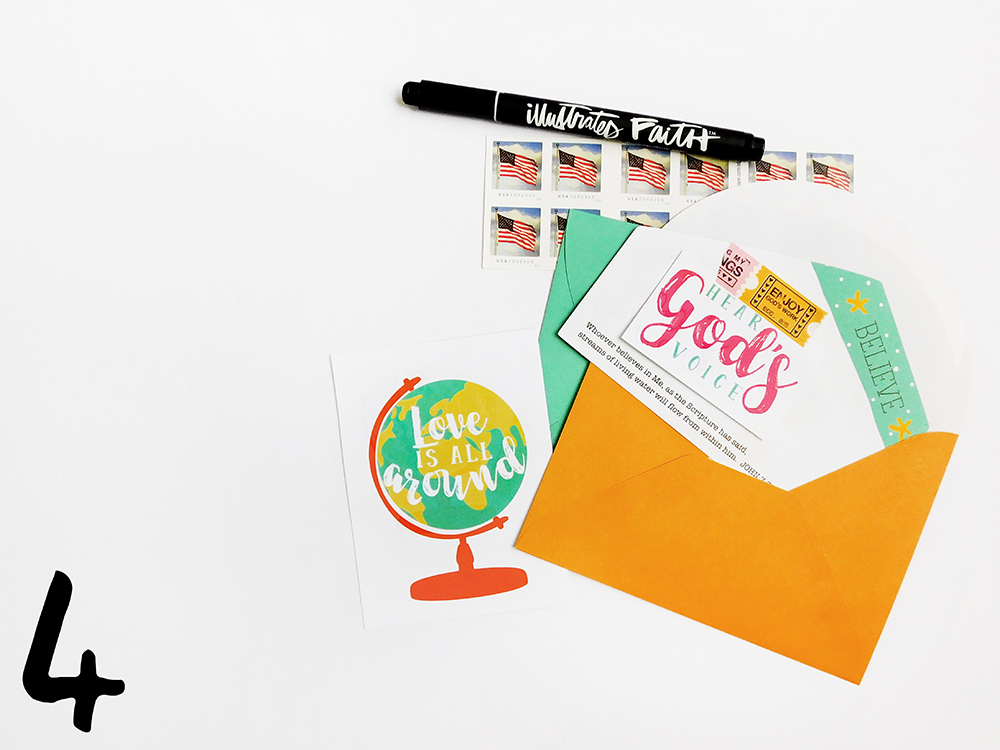 hybrid printable faith happy mail projects by Elaine Davis | A Printer & Washi Tape: 6 WAYS! | Illustrated Faith Print & Pray Shop