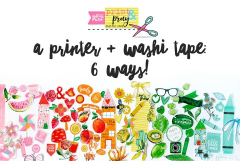 A Printer & Washi Tape: 6 WAYS!