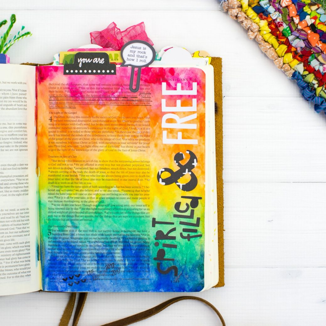 Bible Journaling Rainbow Watercolor Tutorial | Leaning In - Spirit Filled and Free by Amy Bruce