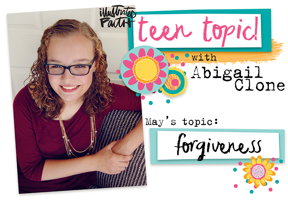 mixed media Bible journaling entry by Abigail Clone | Teen Topic: Forgiveness