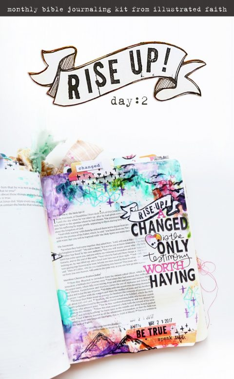 New Bible Journaling Kit | Rise Up Process Video!
