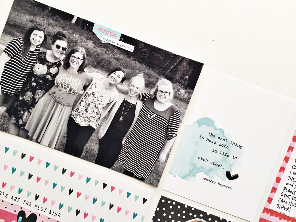 faith pocket scrapbooking by Andrea Gray | Memory Keeping: Faith Edition | Happy Hearts