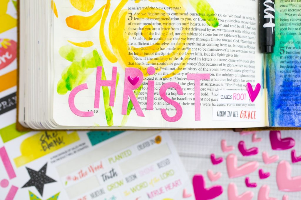 Watercolor Bible Journaling Tutorial by Amy Bruce | Leaning In - The Aroma of Christ | Illustrated Faith She Blooms Collection