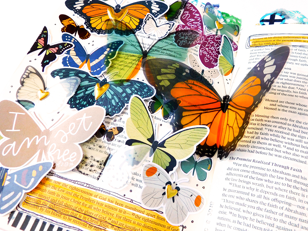 hybrid printables bible journaling page by Elaine Davis | The Truth About Being Saved