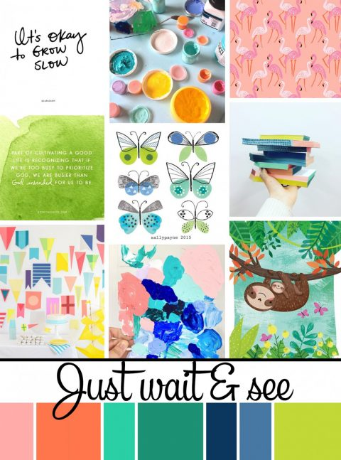 June Artist Mood Board & New Releases: Just Wait & See